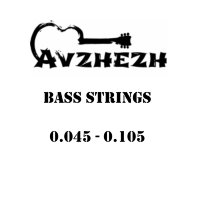 Avzhezh ABS45105 Stainless Steel Bass Strings 45/105