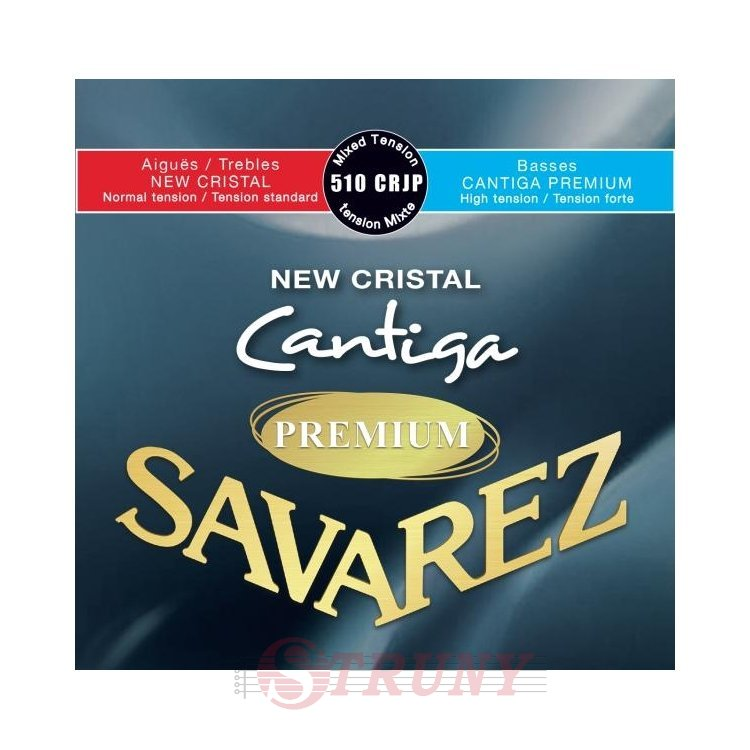 Savarez 510CRJP New Cristal Cantiga Classical Guitar Strings Mixed Tension Premium