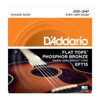 D'Addario EFT15 Flat Tops Phosphor Bronze Extra Light 10/47