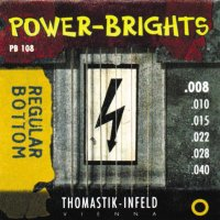 Thomastik-Infeld Power Bright PB108 Regular Bottom Extra Light Electric Guitar Strings 8/40