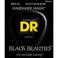 DR BKE7-10 Black Beauties Coated Medium Electric Guitar 7 Strings 10/56