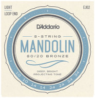 D'Addario EJ62 80/20 Bronze Mandolin Strings Light 10/34
