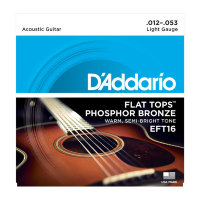 D'Addario EFT16 Flat Tops Phosphor Bronze Light 12/53