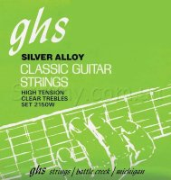 GHS 2150W Clear Nylon Silverplated High Tension Classical Guitar Strings