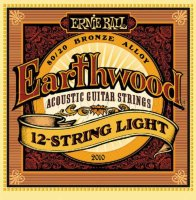 Ernie Ball 2010 Earthwood 12-Strings Light Acoustic 80/20 Bronze 9/46