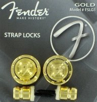 Fender F Strap Locks & Buttons Gold 0990818302