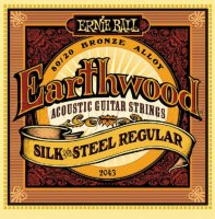 Ernie Ball 2043 Earthwood Silk And Steel Regular 13/56