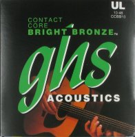 GHS CCBB10 Contact Core Bronze Acoustic Guitar Strings 10/46