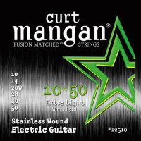 Curt Mangan 12510 Extra Light Stainless Wound Electric Guitar Strings 10/50