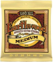 Ernie Ball 2002 Earthwood Medium Acoustic 80/20 Bronze 13/56