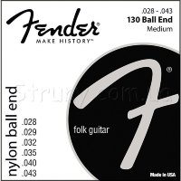 Fender 130 Clear Nylon Ball End Classical Strings 28/43