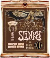 Ernie Ball 3146 Coated Slinky Phosphor Bronze Acoustic Strings 12/54