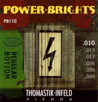 Thomastik-Infeld Power Bright PB110 Regular Bottom Medium Light Electric Guitar Strings 10/45