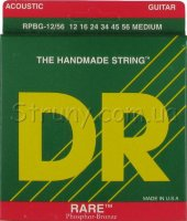 DR RPBG-12/56 RARE Acoustic Phosphor Bronze Medium Guitar Strings 12/56