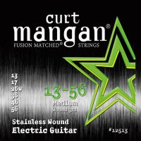 Curt Mangan 12513 Medium Stainless Wound Electric Guitar Strings 13/56