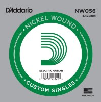 D'Addario NW056 Nickel Wound 056