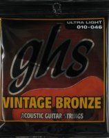 GHS VN-UL Vintage Bronze 85/15 Acoustic Guitar Strings 10/46