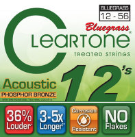 Cleartone 7423 Coated Phosphor Bronze Acoustic Guitar Strings Light 12/56