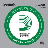 D'Addario NW062 Nickel Wound 062