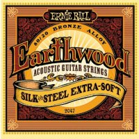 Ernie Ball 2047 Earthwood Silk And Steel Extra-Soft 10/50