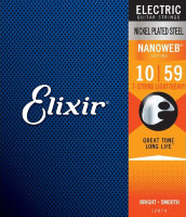 Elixir 12074 Nanoweb Nickel Plated Steel 7-String Light/Heavy 10/59