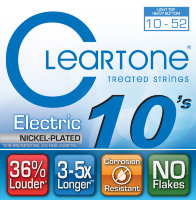 Cleartone 9420 Coated Electric Guitar Strings Light Heavy Bottom 10/52