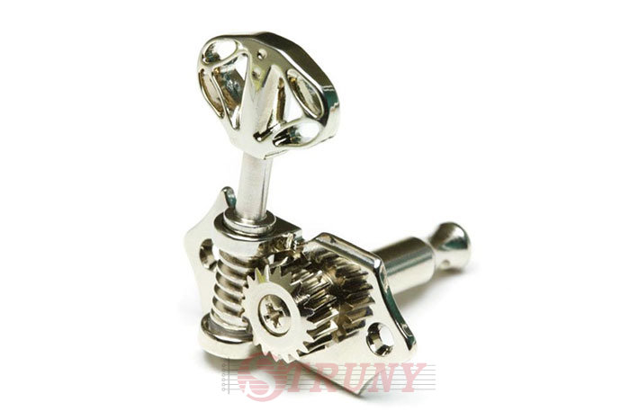 GraphTech PRN-3411-N0 Acoustic 3+3 Skeleton Button Nickel Колки