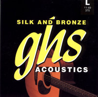 GHS 370 Silk and Bronze Acoustic Guitar Strings 11/49