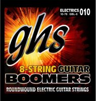 GHS GBL-8 Boomers Light Electric Guitar 8 Strings 10/76