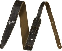 Fender 2' DISTRESSED LEATHER STRAP BLACK Ремень гитарный