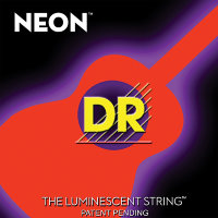 DR NOA-12 Hi-Def Neon Orange K3 Coated Medium-Lite Acoustic Guitar Strings 12/54
