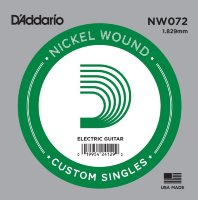 D'Addario NW072 Nickel Wound 072