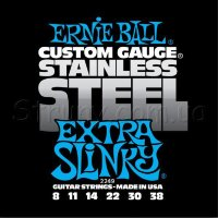 Ernie Ball 2249 Stainless Steel Extra Slinky 8/38