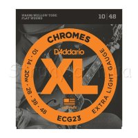 D'Addario ECG23 Chromes Flat Wound Extra Light 10/48