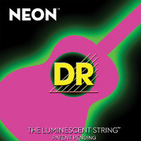 DR NPA-11 Hi-Def Neon Pink K3 Coated Medium-Lite Acoustic Guitar Strings 11/50