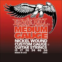 Ernie Ball 2204 Medium Electric Nickel Wound 13/56