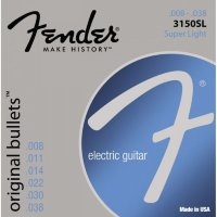Fender 3150SL Original Bullets Pure Nickel Super Light Electric Guitar Strings 8/38