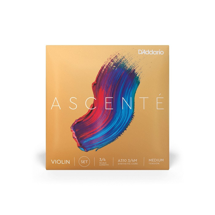 D'addario A310 3/4M ASCENTÉ VIOLIN STRING SET Scale Medium Tension Струни для скрипки