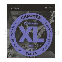 D'Addario ECG24 Chromes Flat Wound Jazz Light 11/50