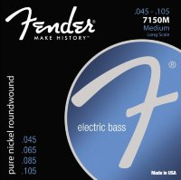 Fender 7150M Pure Nickel Roundwound Medium Long Scale Струны для бас-гитары 45/105