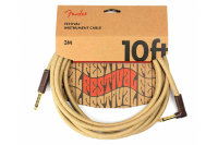 Fender 10' ANGLED FESTIVAL INSTRUMENT CABLE PURE HEMP NATURAL Кабель инструментальный