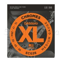 D'Addario ECG26 Chromes Flat Wound Medium 13/56