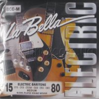 La Bella BGE-M Electric Baritone Nickel Plated Wound Medium Strings 15/80
