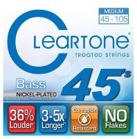 Cleartone 6445 Bass Nickel Plated Medium 45/105