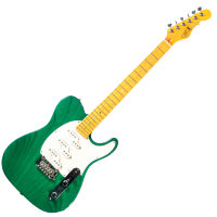 G&L ASAT Z3 (Clear Forest Green, Maple, 3-Ply Pearl) № CLF51194