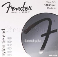 Fender 100 Clear Nylon Tie End Classical Strings 28/43