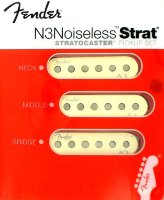 Fender Strat Deluxe N3 Noiseless Pickups Set Aged White 0993115000