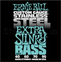 Ernie Ball 2845 Extra Slinky Stainless Steel Bass Strings 40/95