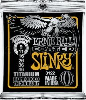 Ernie Ball 3122 Coated Titanium RPS Hybrid Slinky Electric Guitar Strings 9/46