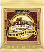 Ernie Ball 2003 Earthwood Acoustic 80/20 Bronze Medium Light 12/54